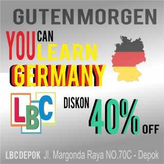Promo 40% Kursus Bahasa Jerman